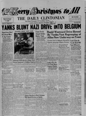 The Daily Clintonian from Clinton, Indiana on December 22, 1944 · Page 1