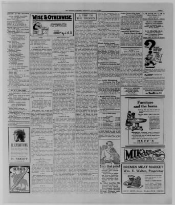 The Bremen Enquirer from Bremen, Indiana on August 14, 1924 · Page 3