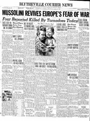 The Courier News from Blytheville, Arkansas on March 30, 1938 · Page 1