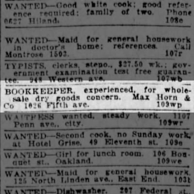 Max & Co Bookkeeper Ad