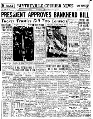 The Courier News from Blytheville, Arkansas on April 21, 1934 · Page 1
