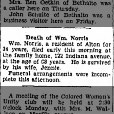 William N Norris obit