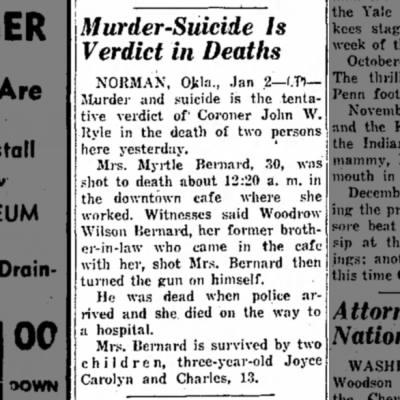 Myrtle Bernard murder/suicide