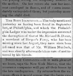 25 July 1845 Supposed Death of Richard D Doran