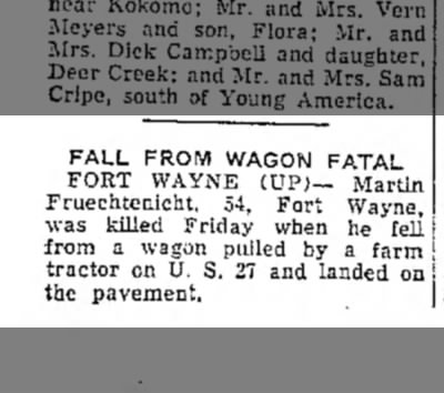 Martin Fruechtenicht, Logansport Pharos-Tribune, Logansport, IN, Sat. Sept. 19, 1953,p.8