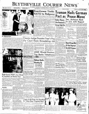 The Courier News from Blytheville, Arkansas on May 30, 1952 · Page 1