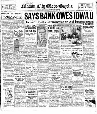 The Mason City Globe-Gazette from Mason City, Iowa on February 4, 1931 · Page 1