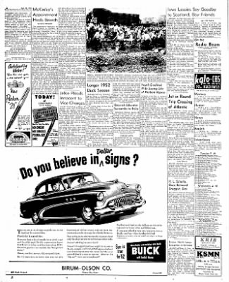 The Mason City Globe-Gazette from Mason City, Iowa on August 26, 1952 · Page 2
