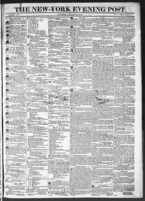 The Evening Post from New York, New York on January 24, 1818 · Page 1