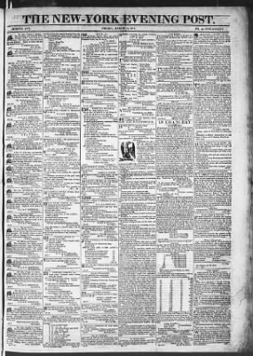 The Evening Post from New York, New York on March 13, 1818 · Page 1