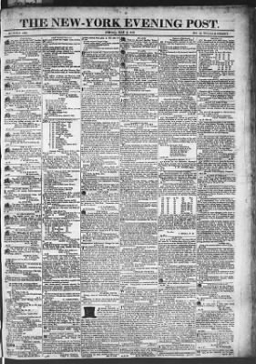 The Evening Post from New York, New York on May 8, 1818 · Page 1