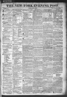 The Evening Post from New York, New York on May 12, 1818 · Page 1