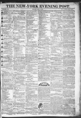 The Evening Post from New York, New York on July 13, 1818 · Page 1