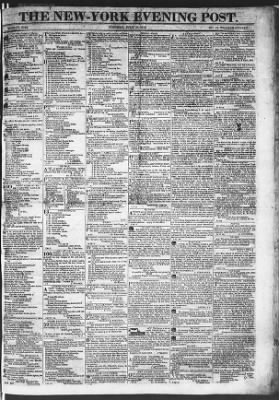 The Evening Post from New York, New York on July 21, 1818 · Page 1