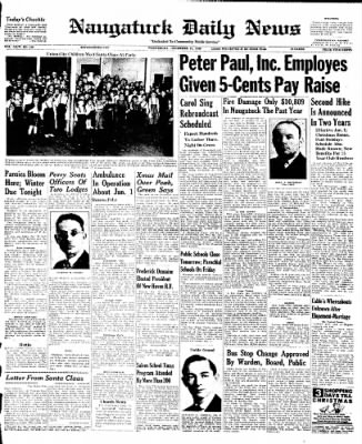 Naugatuck Daily News from Naugatuck, Connecticut on December 21, 1949 · Page 1