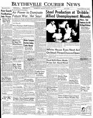 The Courier News from Blytheville, Arkansas on June 3, 1952 · Page 1