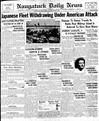 Naugatuck Daily News from Naugatuck, Connecticut on June 6, 1942 · Page 1