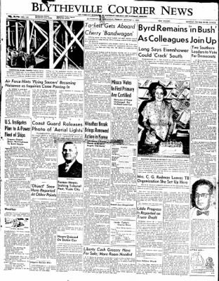 The Courier News from Blytheville, Arkansas on August 1, 1952 · Page 1