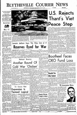 The Courier News from Blytheville, Arkansas on May 12, 1967 · Page 1