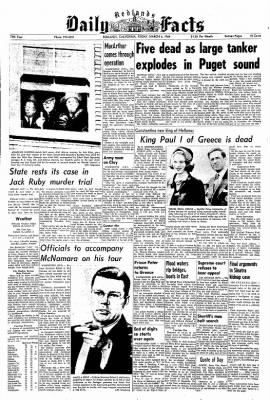 Redlands Daily Facts from Redlands, California on March 6, 1964 · Page 1