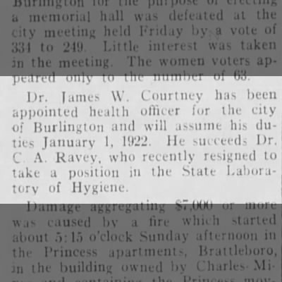 Charles Arthur Ravey 1922