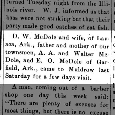 D.W. McDole, A.A. McDole, Walter McDole, E.O. McDole.