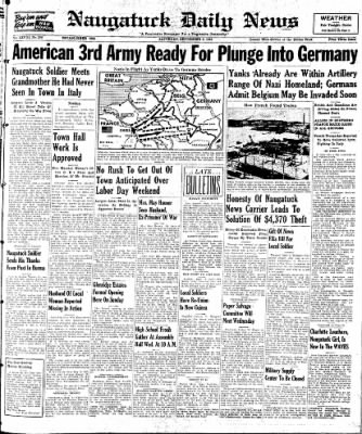 Naugatuck Daily News from Naugatuck, Connecticut on September 2, 1944 · Page 1