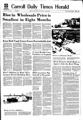 Carrol Daily Times Herald from Carroll, Iowa on July 12, 1974 · Page 1