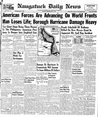 Naugatuck Daily News from Naugatuck, Connecticut on September 15, 1944 · Page 1