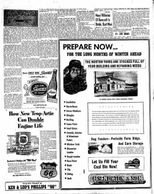 The Algona Upper Des Moines from Algona, Iowa on September 21, 1954 · Page 21