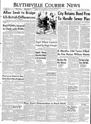 The Courier News from Blytheville, Arkansas on August 15, 1953 · Page 1