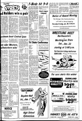 The Sioux County Capital from Orange City, Iowa on January 20, 1972 · Page 7