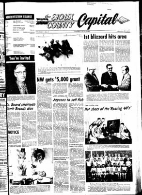 The Sioux County Capital from Orange City, Iowa on January 27, 1972 · Page 1