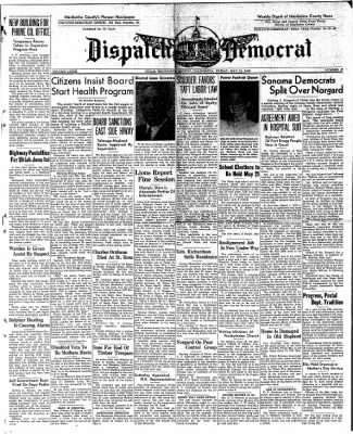Ukiah Dispatch Democrat from Ukiah, California on May 14, 1948 · Page 1