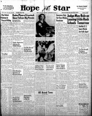 Hope Star from Hope, Arkansas on September 24, 1958 · Page 1