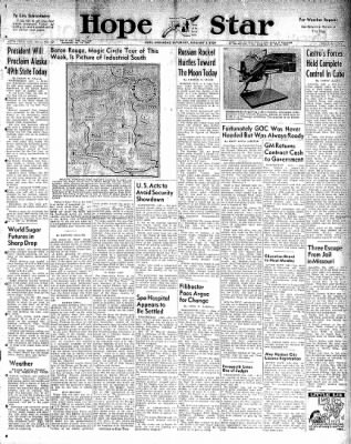 Hope Star from Hope, Arkansas on January 3, 1959 · Page 1