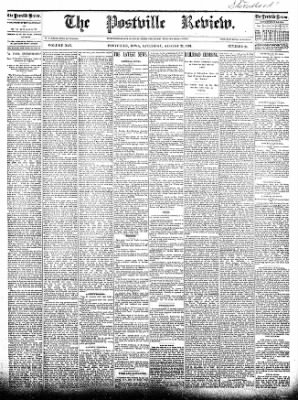 The Postville Review from Postville, Iowa on August 22, 1891 · Page 1