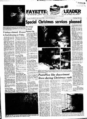 Fayette County Leader from Fayette, Iowa on December 21, 1961 · Page 1