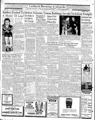 Lubbock Morning Avalanche from Lubbock, Texas on February 20, 1942 · Page 6