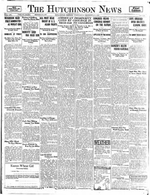 The Hutchinson News from Hutchinson, Kansas on December 3, 1924 · Page 1