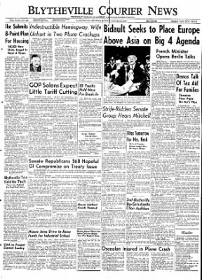 The Courier News from Blytheville, Arkansas on January 25, 1954 · Page 1