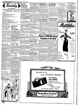 Northwest Arkansas Times from Fayetteville, Arkansas on August 12, 1952 · Page 2