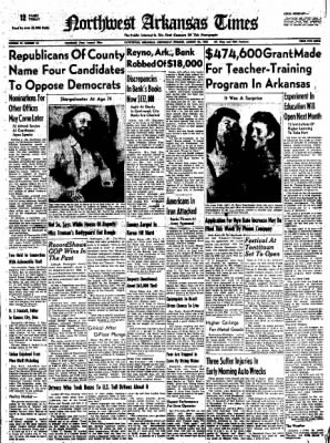 Northwest Arkansas Times from Fayetteville, Arkansas on August 20, 1952 · Page 1