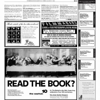 Pittsburgh Post-Gazette from Pittsburgh, Pennsylvania on August 27, 2004 · Page 68