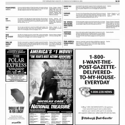 Pittsburgh Post-Gazette from Pittsburgh, Pennsylvania on November 26, 2004 · Page 93