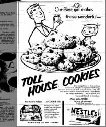 1954 ad for Nestle's semi-sweet morsels