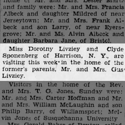 Livziey, Dorothy